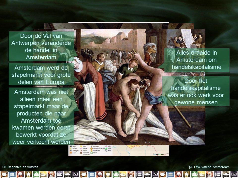 Door de Val van Antwerpen veranderde de handel in Amsterdam