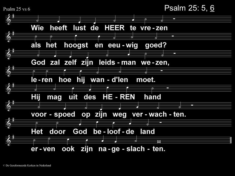 Psalm 25: 5, 6