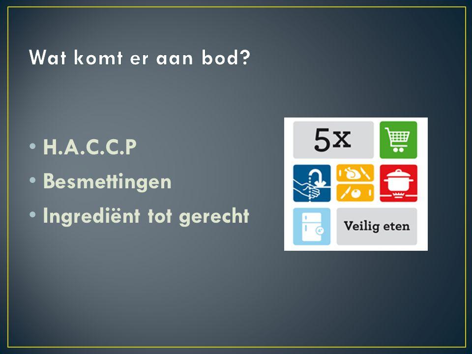 Wat komt er aan bod H.A.C.C.P Besmettingen Ingrediënt tot gerecht