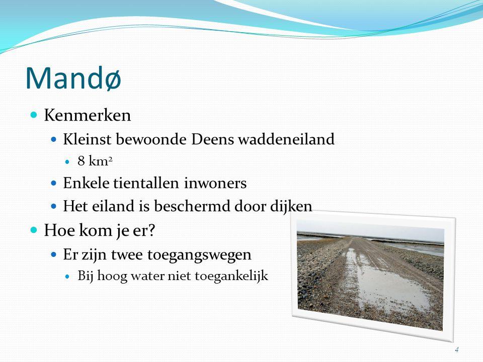 Mandø Kenmerken Hoe kom je er Kleinst bewoonde Deens waddeneiland