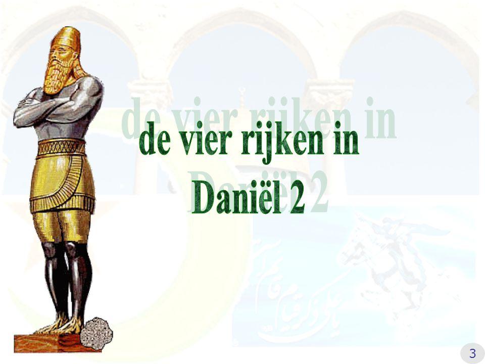 de vier rijken in Daniël 2