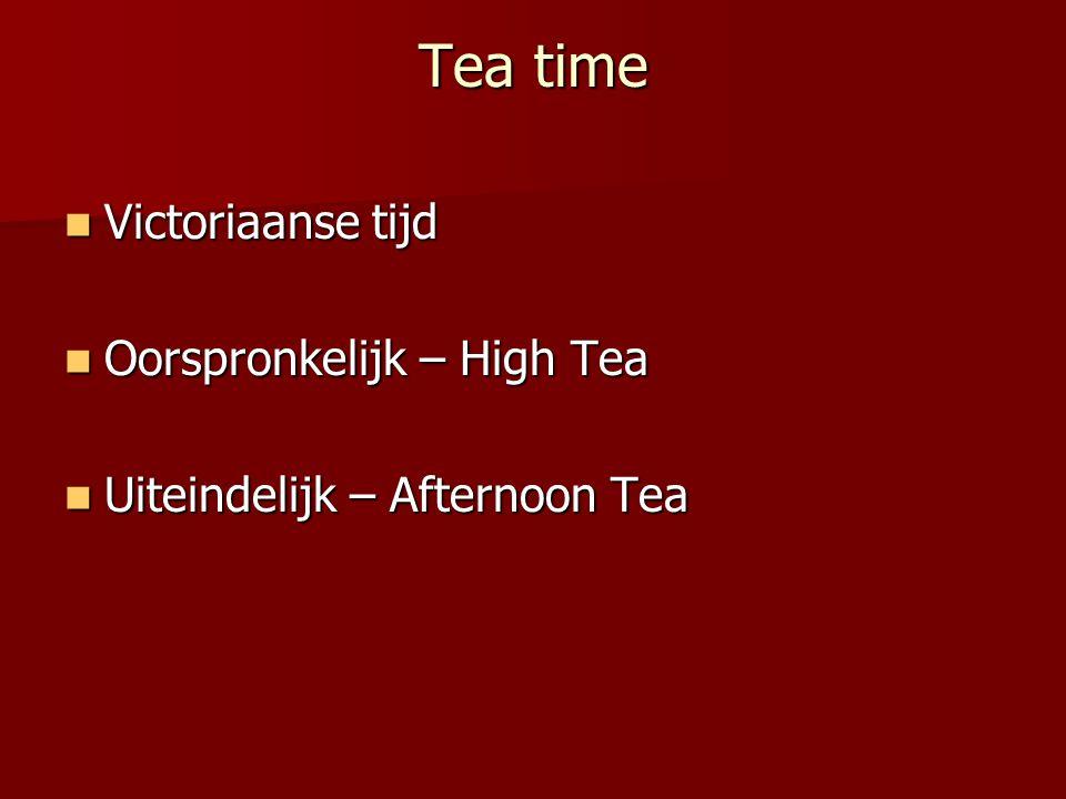 Tea time Victoriaanse tijd Oorspronkelijk – High Tea