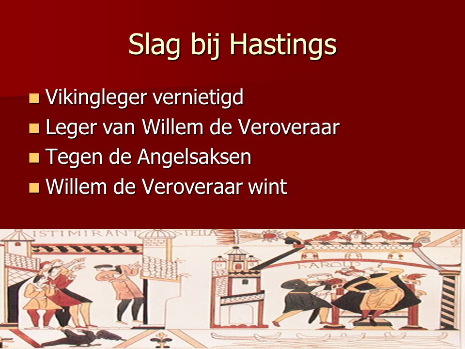 Slag bij Hastings Vikingleger vernietigd