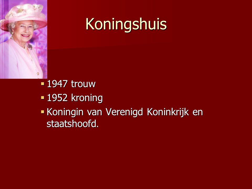 Koningshuis 1947 trouw 1952 kroning