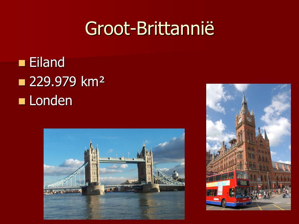 Groot-Brittannië Eiland 229.979 km² Londen