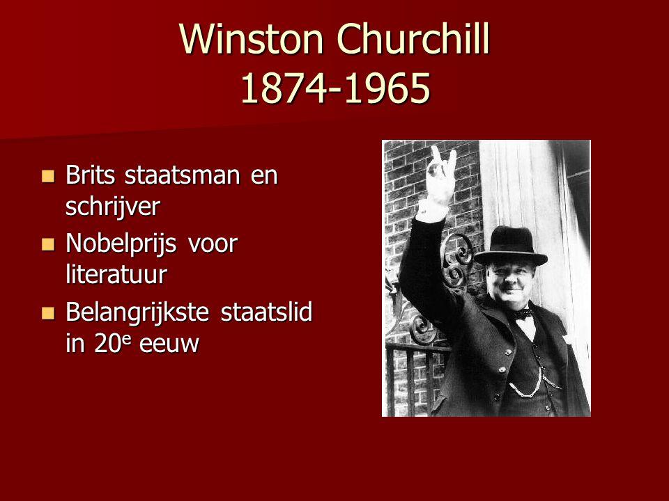 Winston Churchill 1874-1965 Brits staatsman en schrijver
