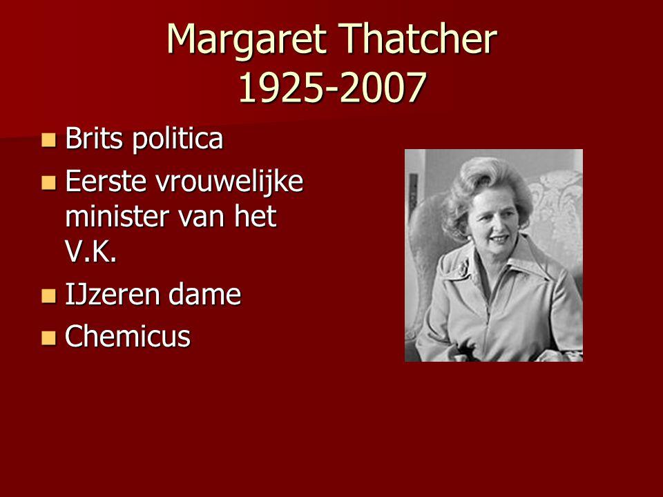 Margaret Thatcher 1925-2007 Brits politica