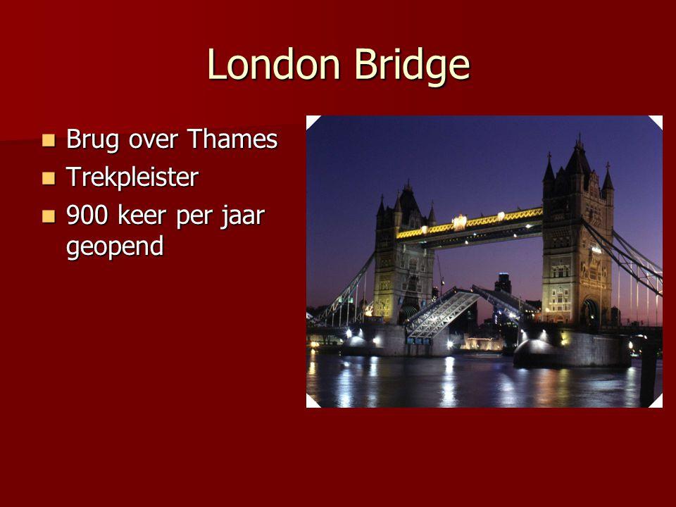 London Bridge Brug over Thames Trekpleister 900 keer per jaar geopend