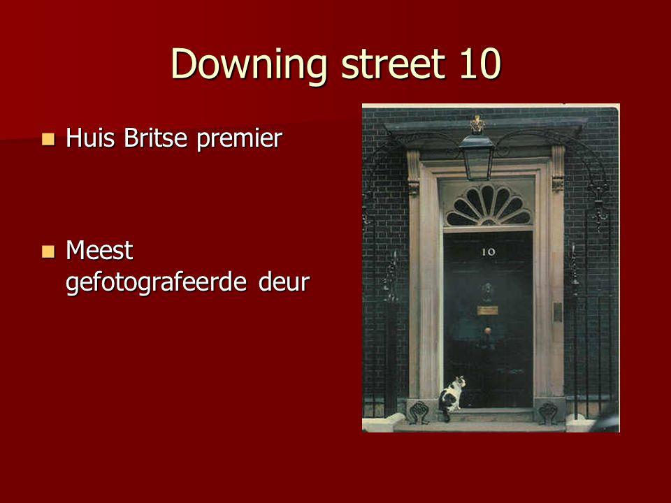 Downing street 10 Huis Britse premier Meest gefotografeerde deur