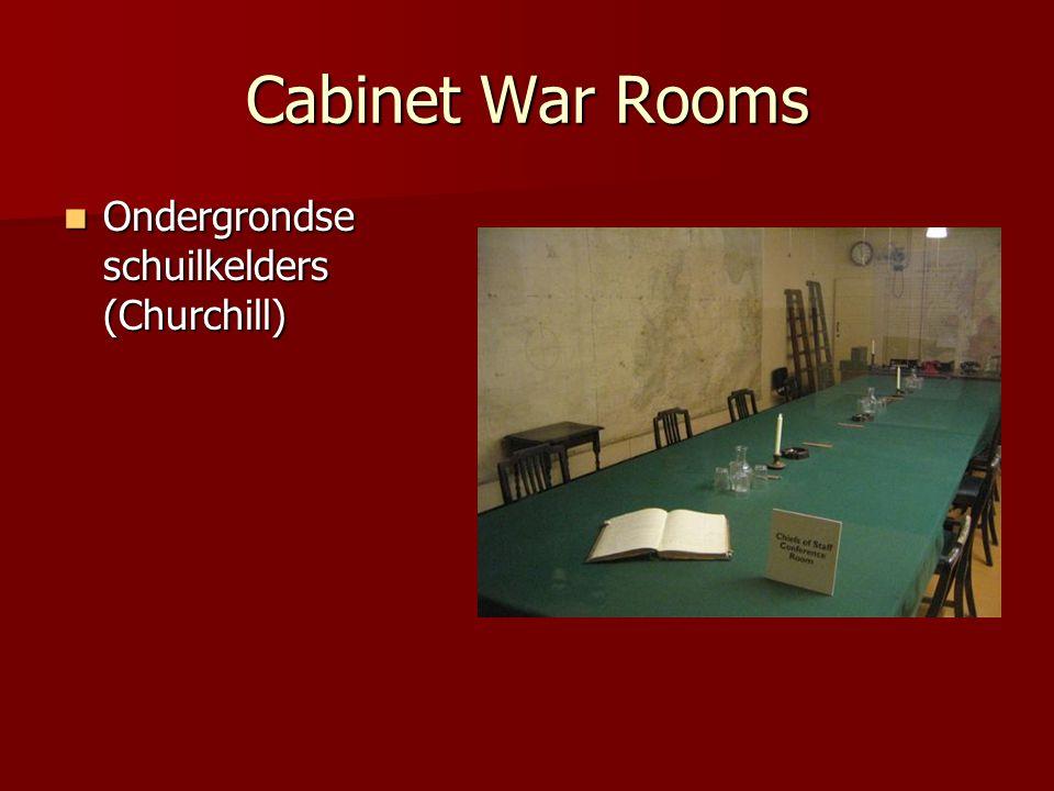 Cabinet War Rooms Ondergrondse schuilkelders (Churchill)