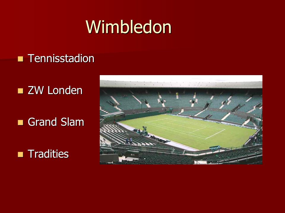 Wimbledon Tennisstadion ZW Londen Grand Slam Tradities