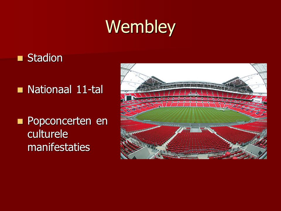 Wembley Stadion Nationaal 11-tal