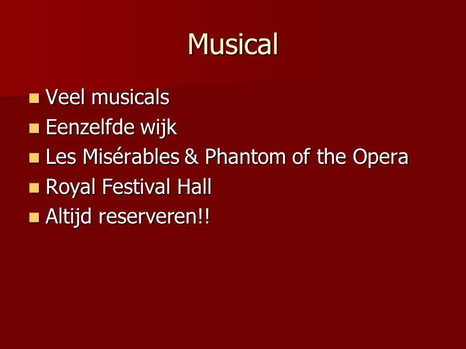 Musical Veel musicals Eenzelfde wijk