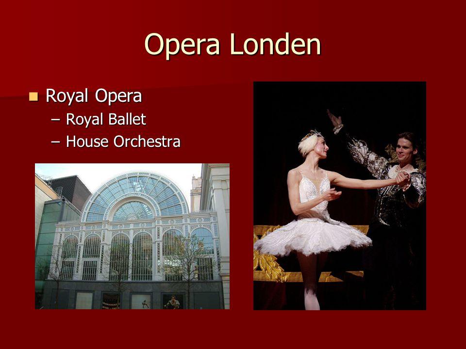 Opera Londen Royal Opera Royal Ballet House Orchestra