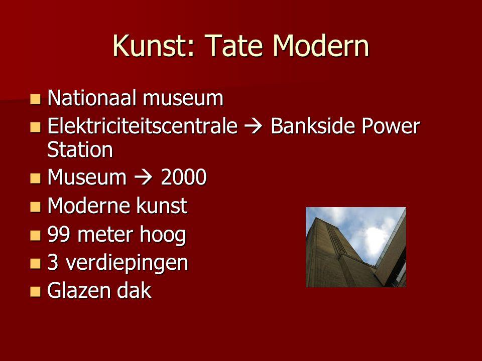 Kunst: Tate Modern Nationaal museum