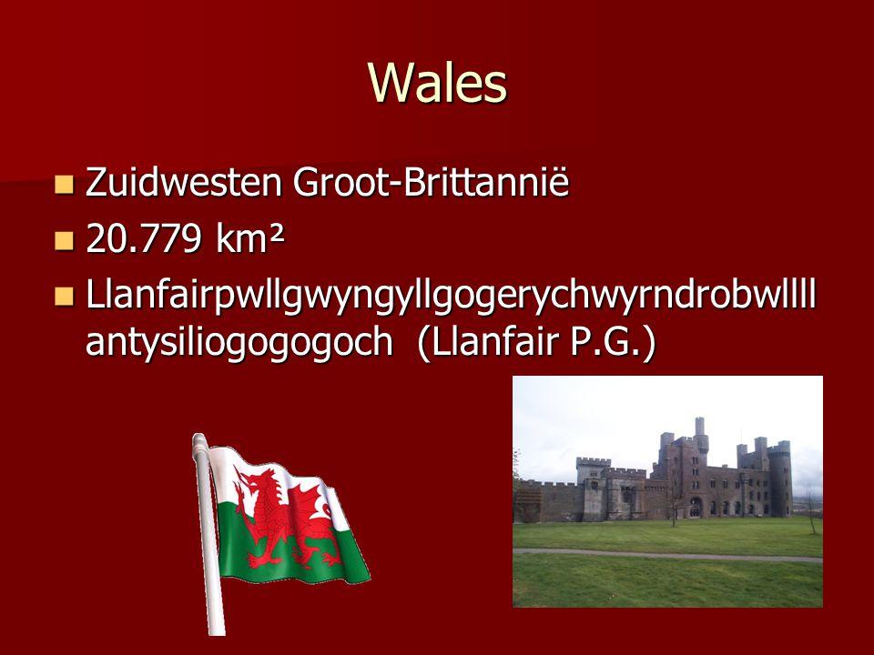 Wales Zuidwesten Groot-Brittannië 20.779 km²