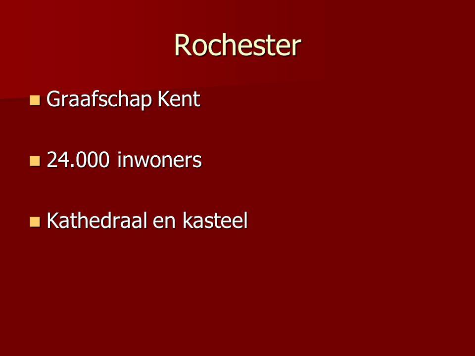 Rochester Graafschap Kent 24.000 inwoners Kathedraal en kasteel