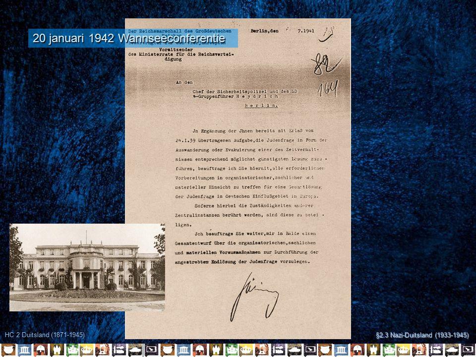 20 januari 1942 Wannseeconferentie