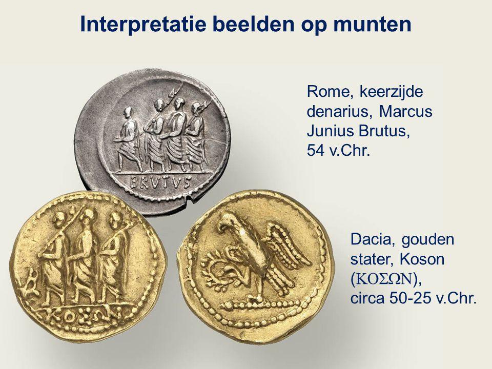 Interpretatie beelden op munten