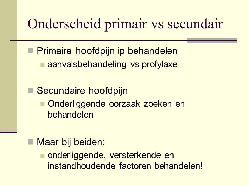 Onderscheid primair vs secundair