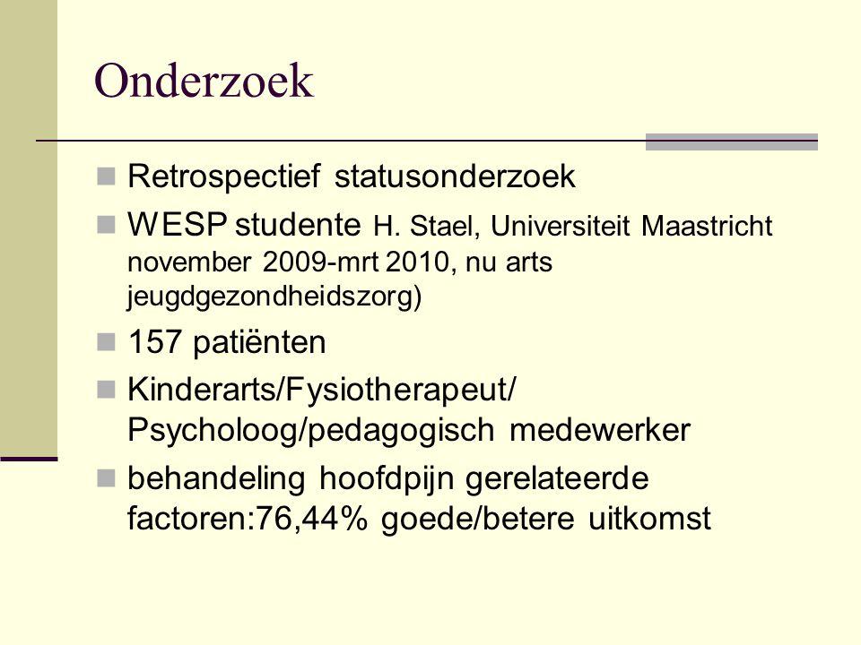 Onderzoek Retrospectief statusonderzoek