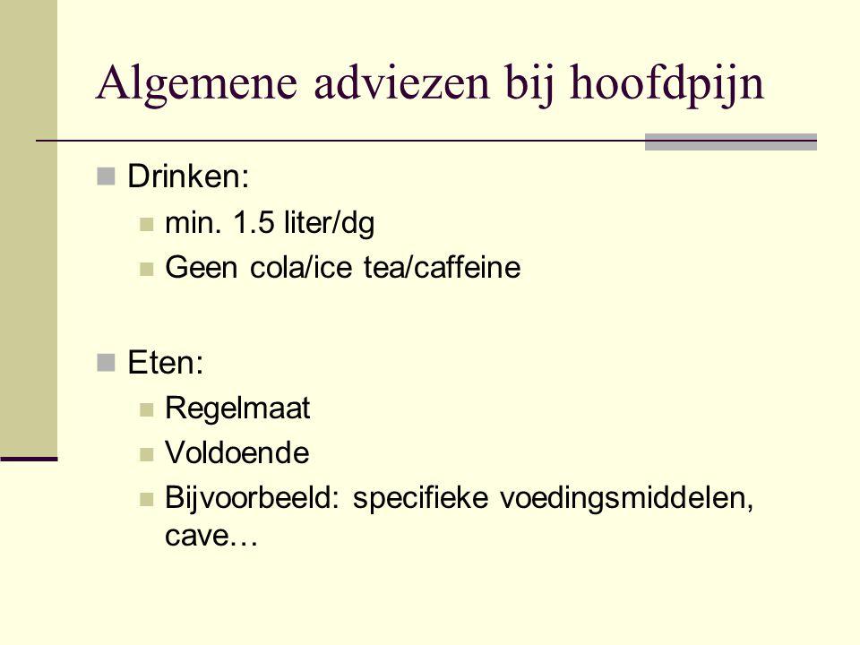 Algemene adviezen bij hoofdpijn