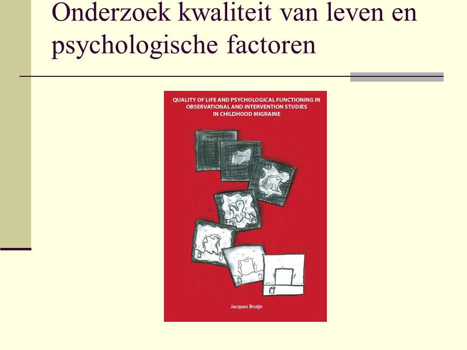 Onderzoek kwaliteit van leven en psychologische factoren