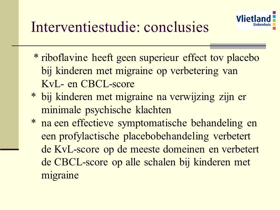 Interventiestudie: conclusies