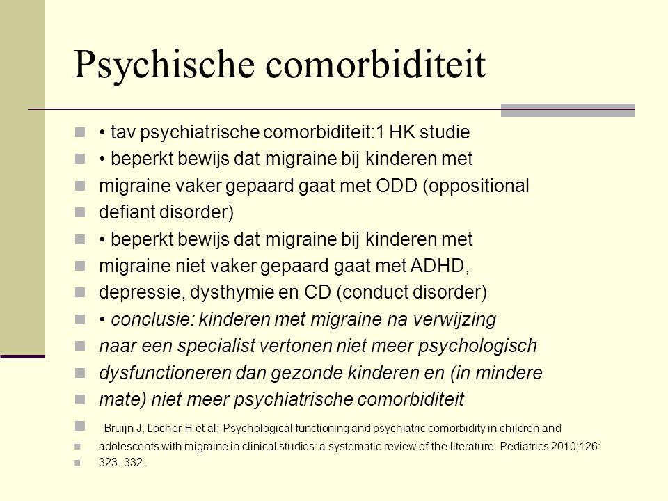 Psychische comorbiditeit