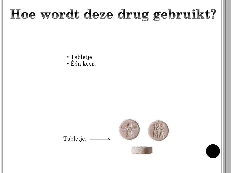 Hoe wordt deze drug gebruikt
