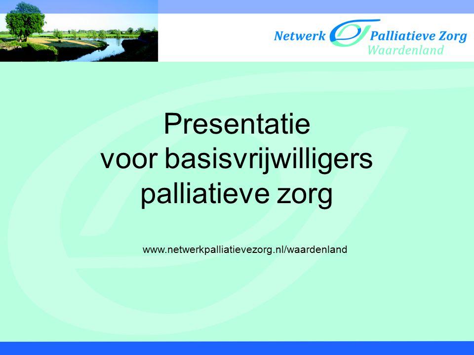 Presentatie voor basisvrijwilligers