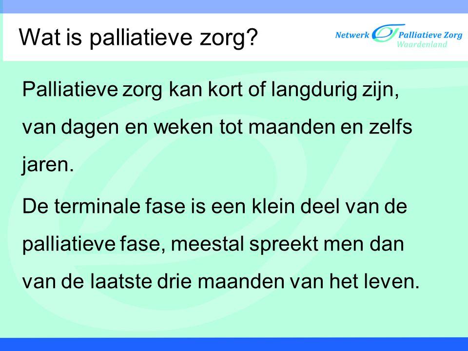 Wat is palliatieve zorg