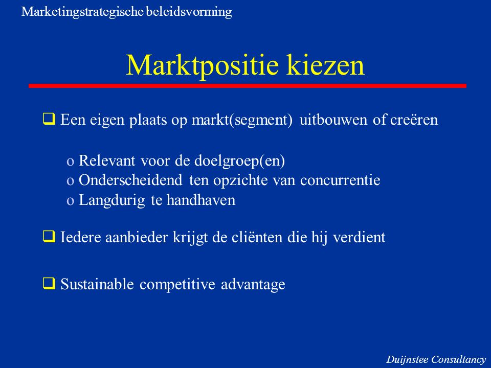 Marketingstrategische beleidsvorming