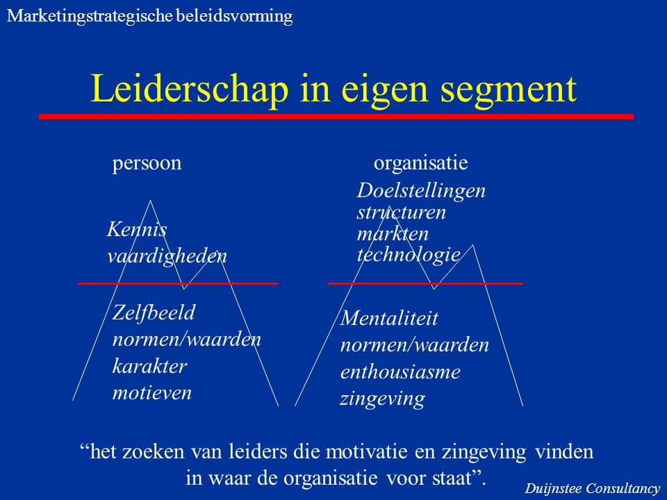 Leiderschap in eigen segment
