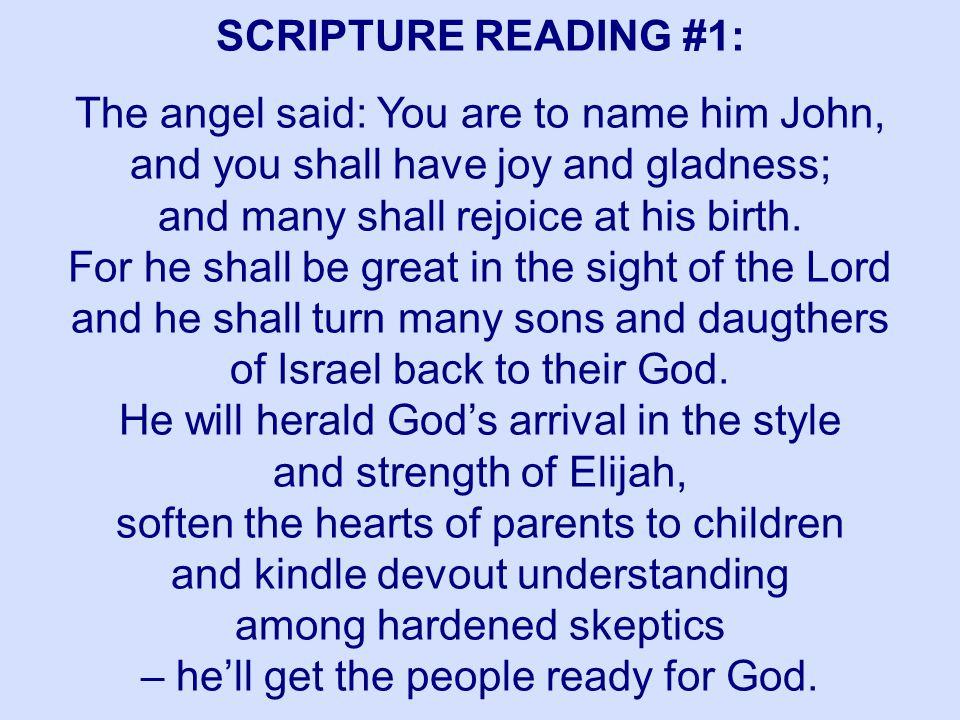 SCRIPTURE READING #1: