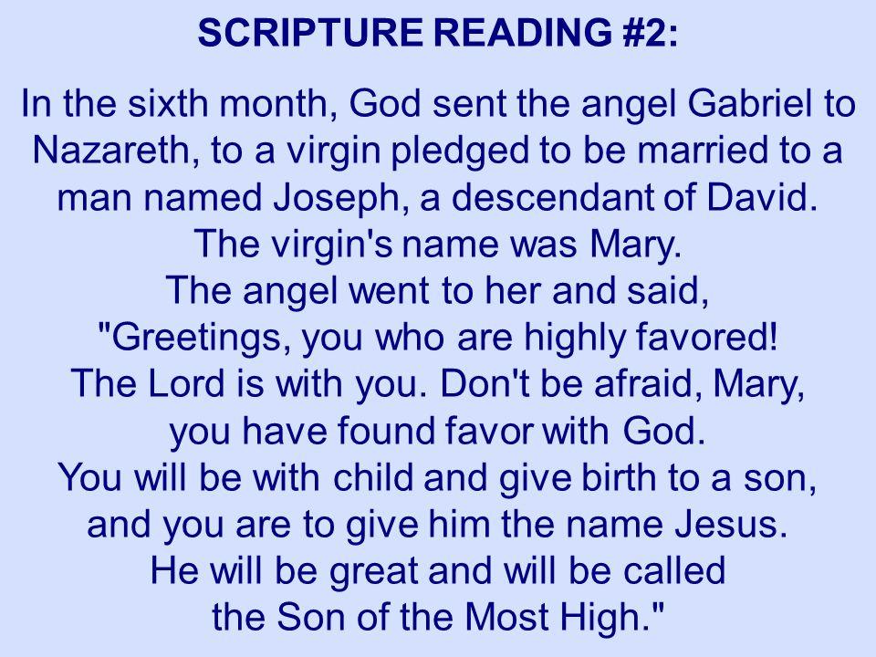 SCRIPTURE READING #2: