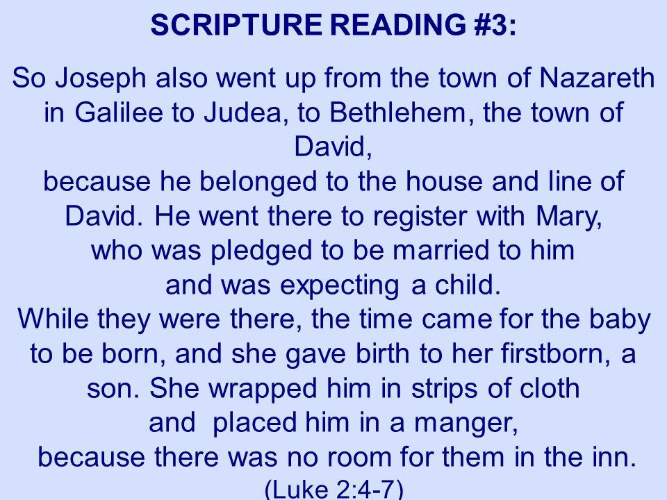 SCRIPTURE READING #3: