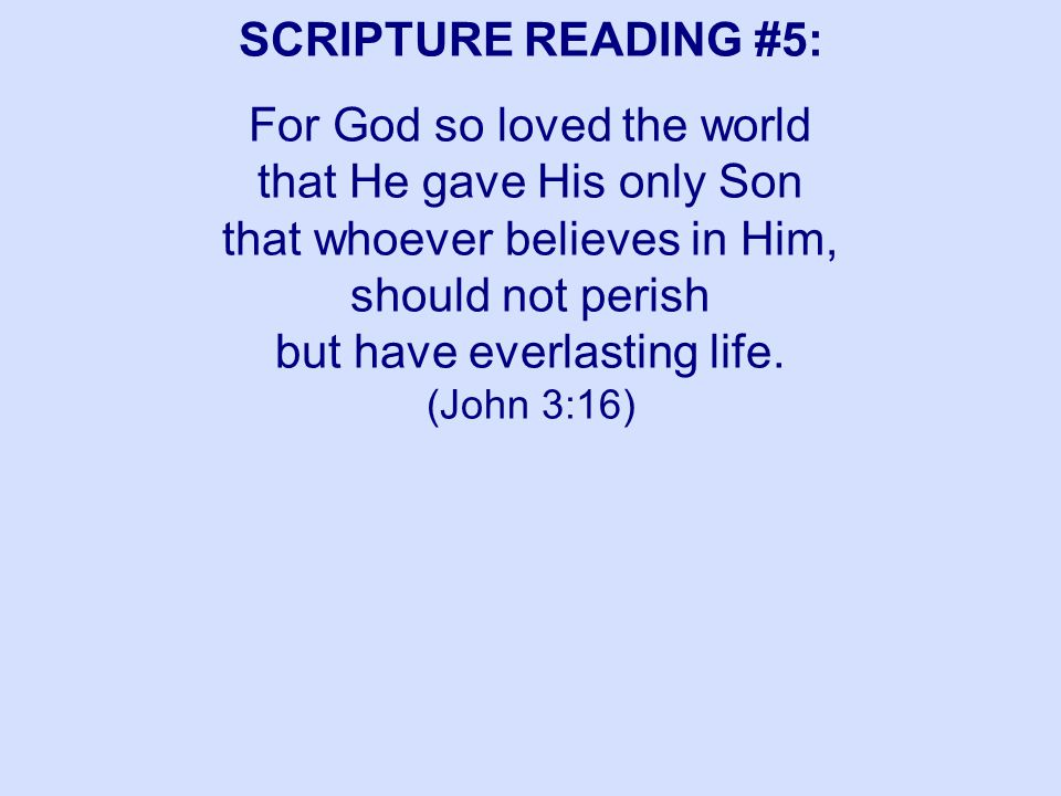 SCRIPTURE READING #5: