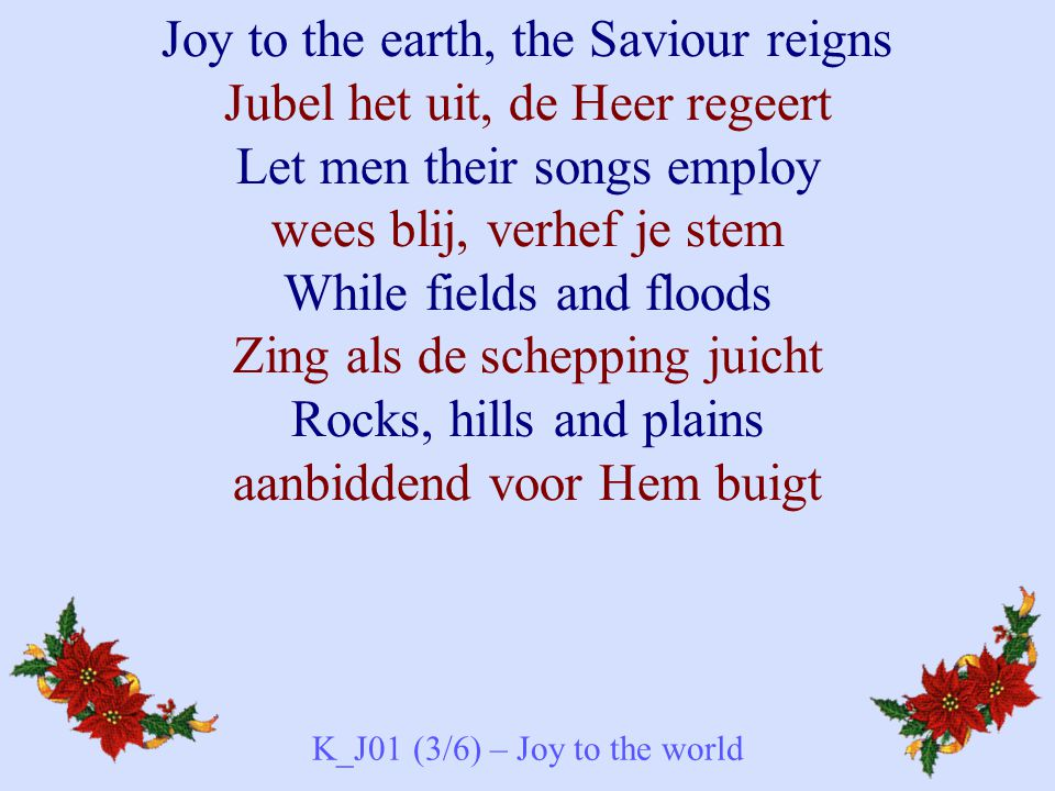 K_J01 (3/6) – Joy to the world