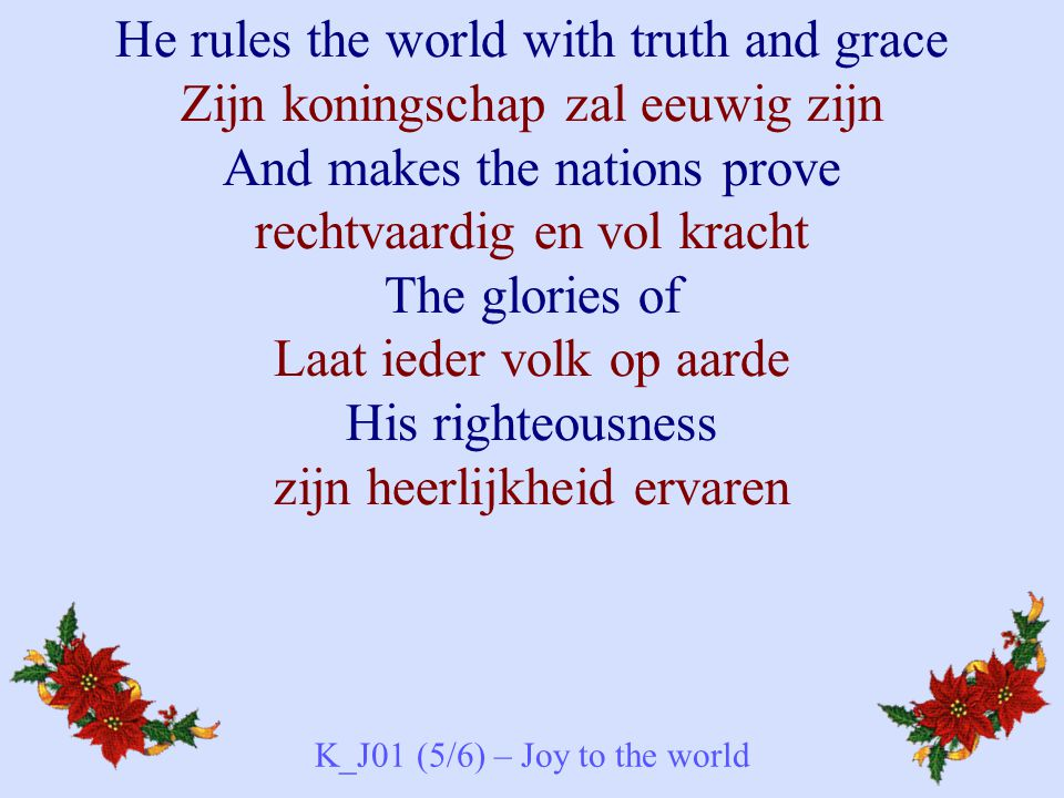 K_J01 (5/6) – Joy to the world