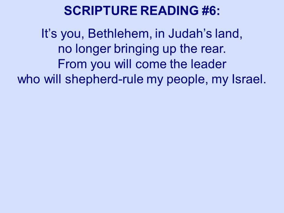 SCRIPTURE READING #6: