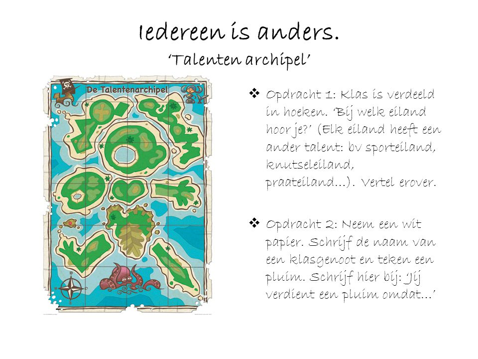 Iedereen is anders. 'Talenten archipel'