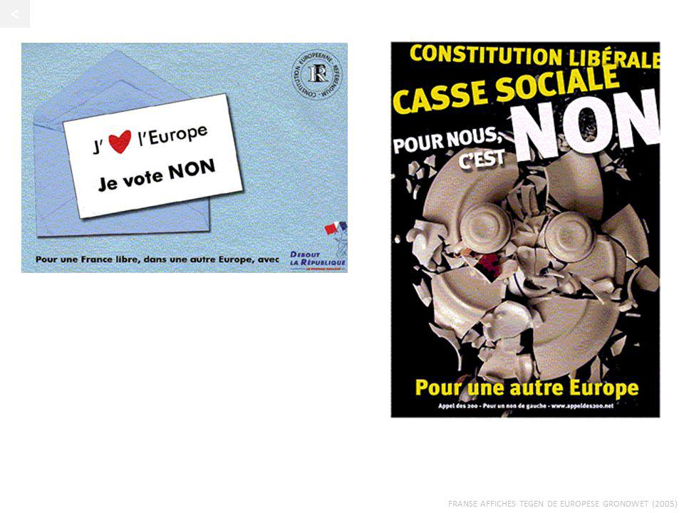 < Franse affiches tegen de Europese grondwet (2005)