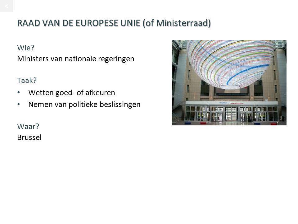 RAAD VAN DE EUROPESE UNIE (of Ministerraad)