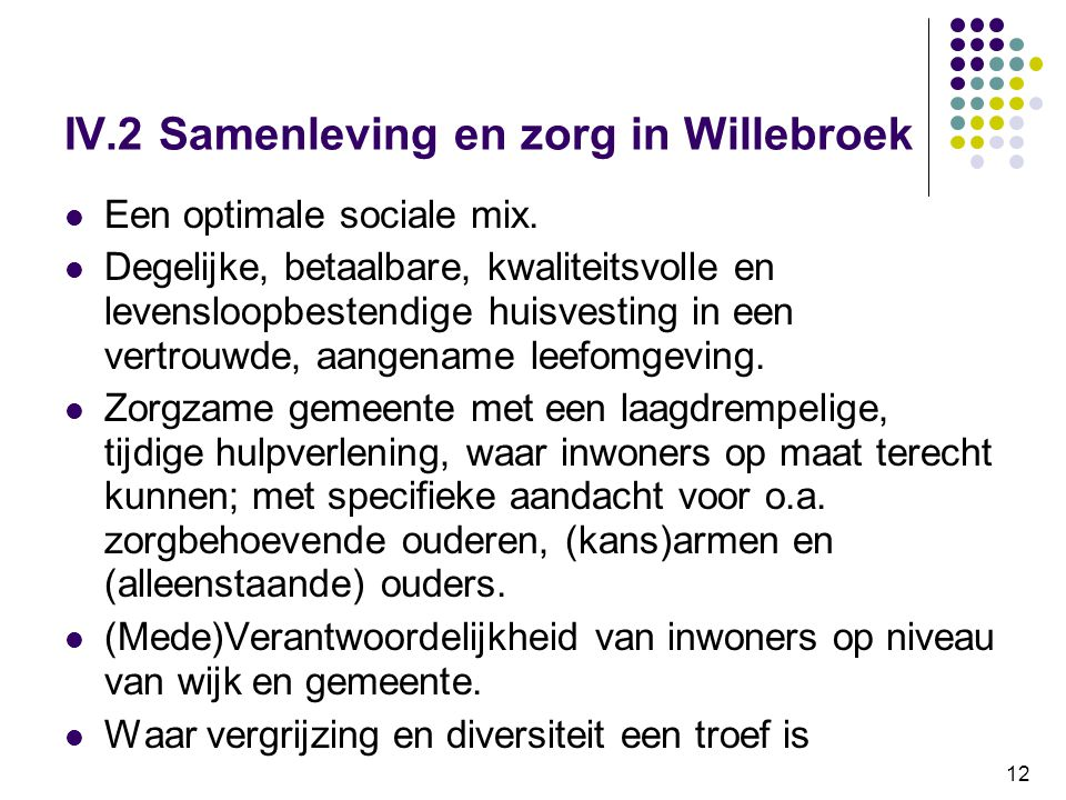 IV.2 Samenleving en zorg in Willebroek