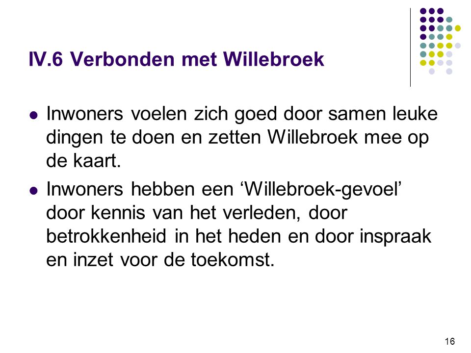 IV.6 Verbonden met Willebroek
