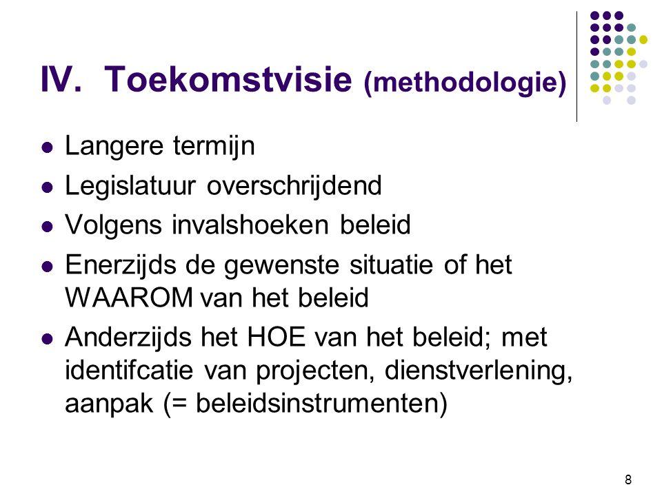 IV. Toekomstvisie (methodologie)