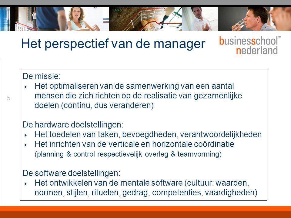 Dus definiëren we OM voor managers als: