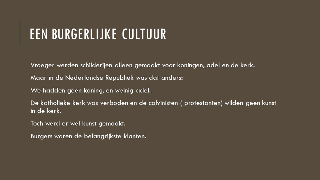 Een burgerlijke cultuur