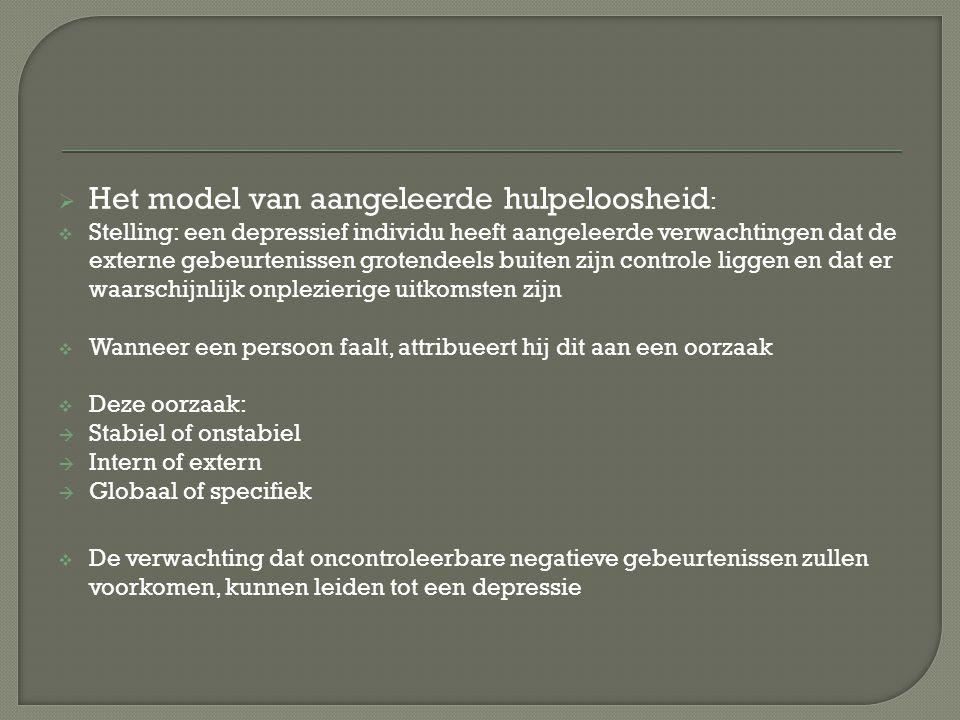 Het model van aangeleerde hulpeloosheid: